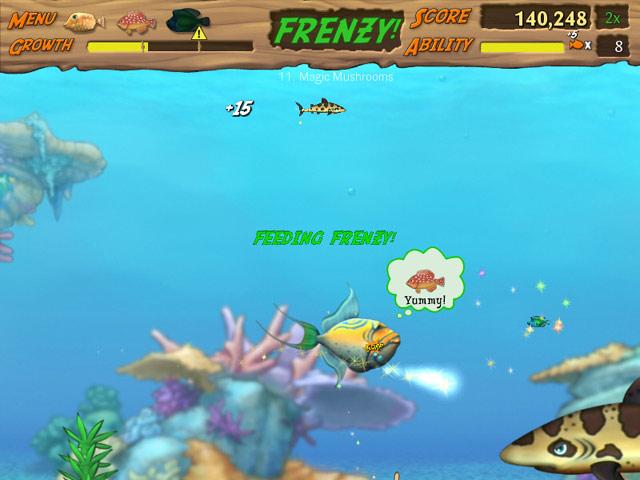 Feeding frenzy 2 game dwonload free feeding frenzy ii trial for Feeding frenzy fish
